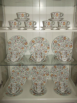 New 42 piece Dinner Set Minton Haddon Hall inc Breakfast Cup & Saucers Romany