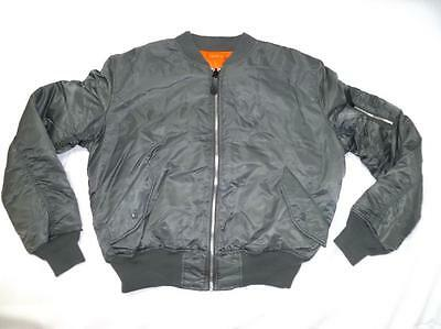 KNOX ARMORY by alpha industr MA-1 USED MEN L MILITARY STYLE BOMBER/FLIGHT JACKET