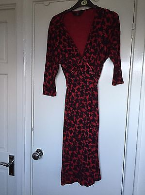 Mothercare Maternity Dress / Red & Black / Size 14