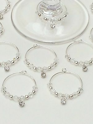 20 Wedding Wine Glass Charms. Favours,Hen Night,Party,Christening