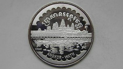 Cambodia 20 Riels 1989 Angkor- Wath Silver proof coin