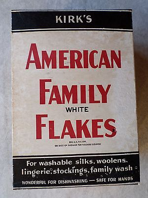 Vintage Advertising KIRK'S American Family White Flakes UNOPENED BOX