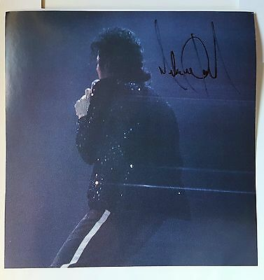 """MICHAEL JACKSON 8""""x10"""" Colour Poster Hand Signed & Framed PRICED TO SELL!"""