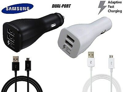 OEM Adaptive Fast Charging Dual-Port Car Charger Samsung Galaxy Note 4 5 S6 S7