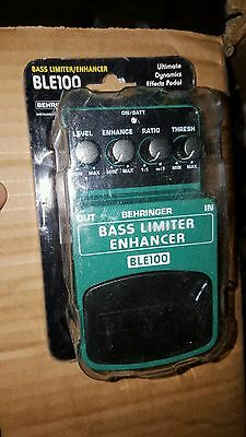 BEHRINGER BLE100 BASS LIMITER ENHANCER pedal FREE USA SHIPPING