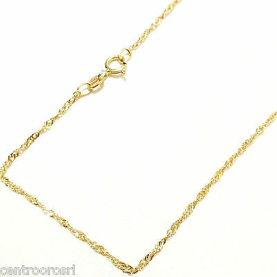 Catenina Oro Giallo 18kt 750 Maglia Singapore 0.80 Gr - 40 cm18k Gold Necklace