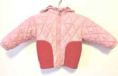Toddler Girls PATAGONIA Pink Hooded Quilted Winter Coat- size 24 months- GUC