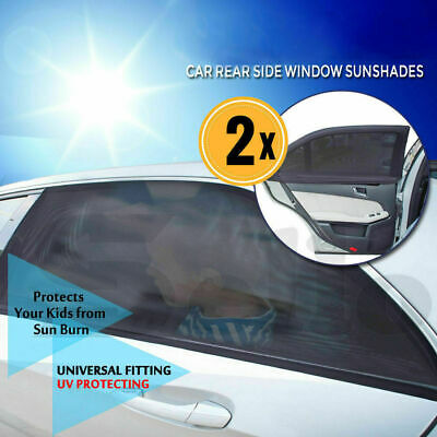 2X Universal Car Sun Shades Side Window Curtain Sunshade UV Protection Visor NEW