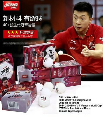 New Material CELL-FREE 3 Star  PingPong Ball 6 Pcs Official Ball of World Games