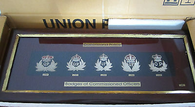 Ozbadge Queensland Police Replica Sterling Silver Badge Set Limited Ed 1880-1958