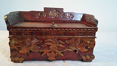 Vintage Hand Crafted Wooden Chest / Storage / Jewelry Box