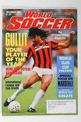 December 1989 World Soccer Magazine, Gullit, World Cup Preview Mailing Label