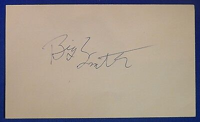 "Elmore ""BIG"" SMITH signed autograph 3x5 index Cavs Los Angeles Lakers+ 1971-77"