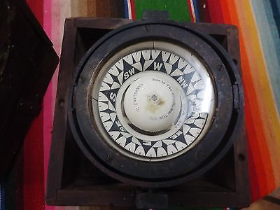 Rare Vintage Ritchie Compass Metal,glass In Wood Box Upson-Walton Co. Very Old?