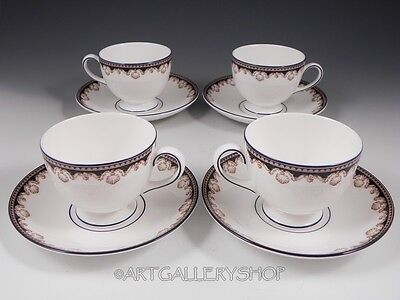 Wedgwood England MEDICI CUPS AND SAUCERS R4588 Set of 4