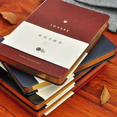 Love Hand Book Leather Facing Blank Dot Monthly Plan Notebook A5
