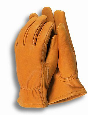 Town & Country Small Premium Leather Gardening Gloves for Ladies Elastic Wrist