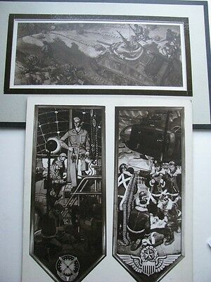 Orig Ww 2 Litho Military Art Battle Of Tunisia From Orig Paintings Art 1945