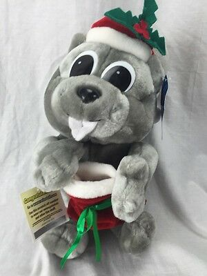 "17"" Rocky and Bullwinkle SQUIRRE Santa Christmas Plush Stuffed Animal  NWT"