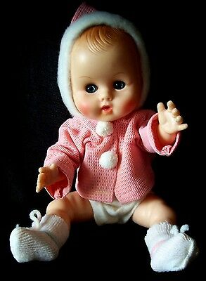 """Vtg 1960s/70s Vogue Baby Ginny Vinyl Doll 11"""" Orig Clothes More Dolls Available"""