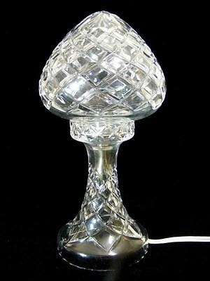 Stunning Vintage / Art Deco Lead Crystal Boudoir Electric Lamp Chic French Style