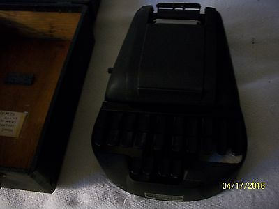 Vintage  Stenotype or Stenograph Typewriter Machine With Case
