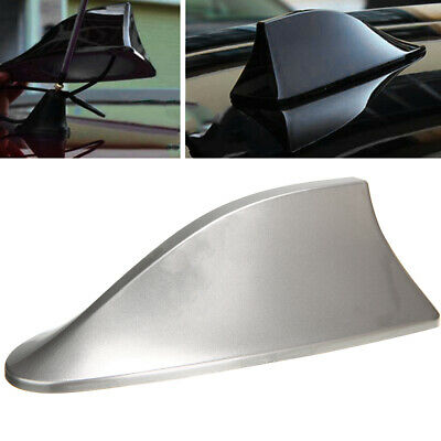 New Universal Car Auto Shark Fin Roof Antenna Radio FM/AM Decorate Aerial Gray