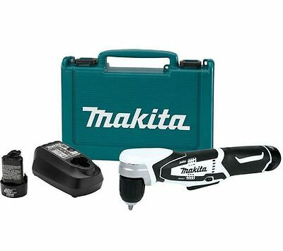 New Makitav 12 Volt Max Lithium Ion 3/8 in Cordless Right Angle Drill Kit AD02W