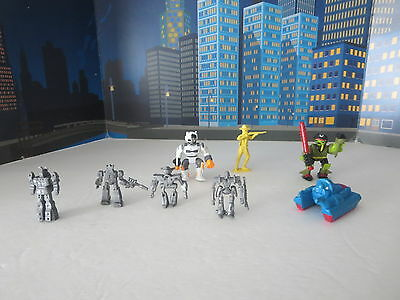 Lot Of Robots Army Ant And Worriers Monsters, Marty Toys Bend-O-Bots