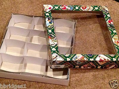 *Square - Large* - Old World Christmas Ornament Storage Box - Holds 12 (#3)