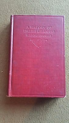 A History of English Literature by Neilson & Thorndike Vintage old 1922 book