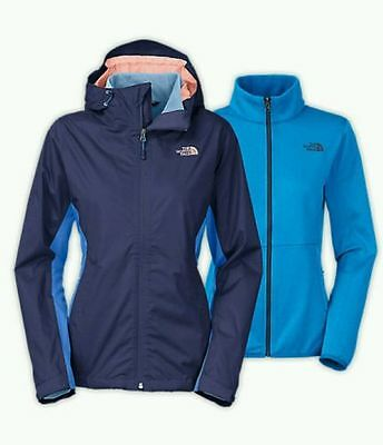 New $199 The North Face Arrowood Triclimate Blue 3-in-1 Women's Jacket size S