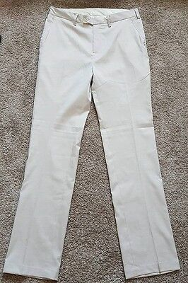 Ray Cook NEW Golf Flat Front Mens 32 / 34 Performance Khaki Pants Stone Stretch