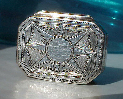 Rare 1801 Georgian Sterling Silver Gold London Snuff Box Vinaigrette Dm Maker