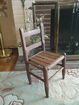 Antique Vintage Primitive Solid Wood Stool Chair for Kids