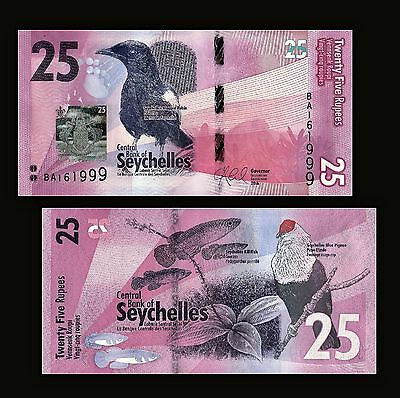 Seychelles 25 Rupees 2016, P-New, UNC Money, Banknotes