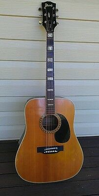 Early 1970s Vintage Ibanez Acoustic Guitar made in Japan