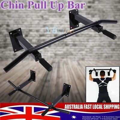 Chin Pull Up Bar Wall Mounted Home Gym Suspension Exercise Door Workout Fitness