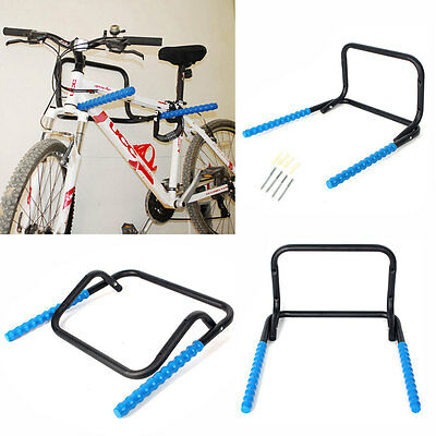 Cycle Bicycle Wall Mounted Folding Bike Storage Rack Hook Holder Garage Gift UK