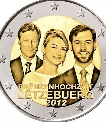 Luxembourg 2 Euro 2012 Coin Commemorative Royal Wedding New BUNC from Roll
