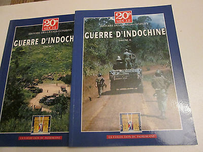 20 e siecle .. guerre d'indochine ..2vol ..TBE