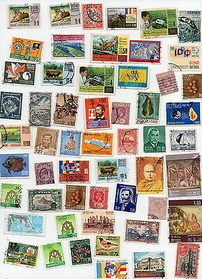 Sri Lanka Stamps 85 All Different and Off paper