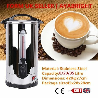 8/20/35L Electric Stainless Steel Catering Hot Water Boiler Tea Urn Commercial