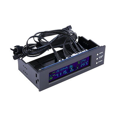 5.25 inch PC Fan Speed Controller Temperature Display LCD Front Panel#DB