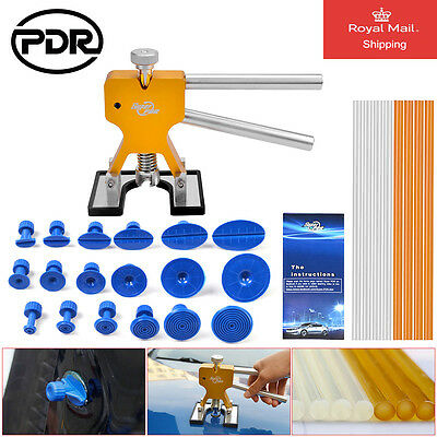 28x PDR Tools Paintless Dent Removal Repair Dent Lifter Puller Tabs Set UK STOCK