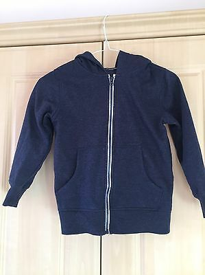 Boys Navy Hooded Top Age 6-7Yrs