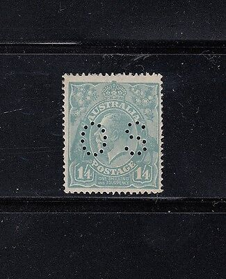 SINGLE WATERMARK:1/4d Blue Perf OS SG O75 MLH, retail $175.