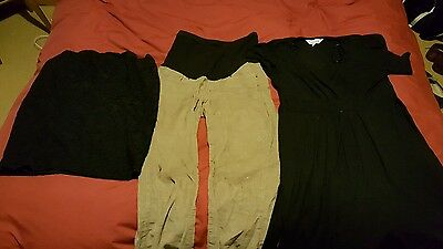 small bundle maternity clothes, size 8