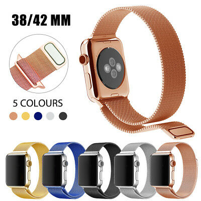 38/42mm Noble Stainless Steel Magnetic Wrist Strap Bands for Apple Watch iWatch