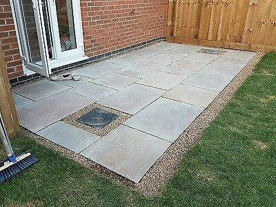 RAJ GREEN Patio Paving Slabs NATURAL INDIAN SANDSTONE approx 8m2 PREMIUM Flags